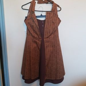 Doctor Who BBC Dr who Hot Top Dress sz LG